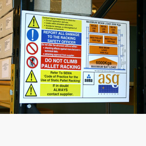 Warehouse Load Notice Signs