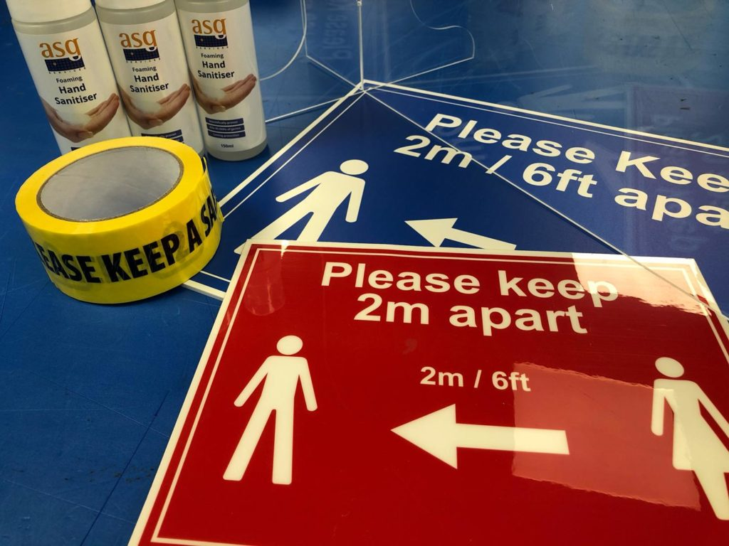 safety signs & sanitisers